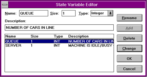 The State Variable Editor Dialog Box