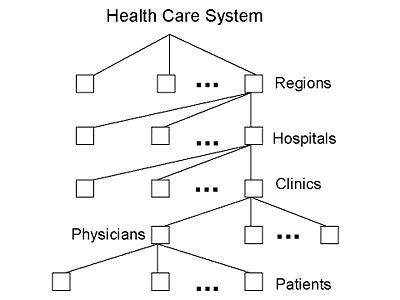 The Entity/Attribute Hierarchy for a Health Care System